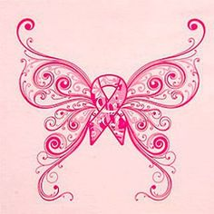 Breast cancer butterfly