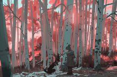 236/365 Sit, Atey Ghailan on ArtStation at https://www.artstation.com/artwork/xqvJE