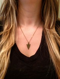 Arrowhead Necklace by elladolce on Etsy, $23.00