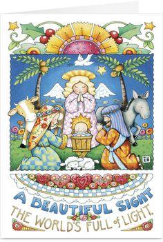 Mary Engelbreit - Beautiful Sight Christmas Card