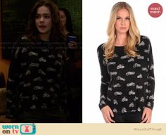 Callie's motorcycle print top on The Fosters. Outfit Details: http://wornontv.net/27431 #TheFosters #fashion