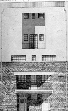 The Tristan Tzara House by architect Adolf Loos was built in Montmartre, Paris, France in Architecture Drawings, Classical Architecture, Historical Architecture, Landscape Architecture, Architecture Design, Tristan Tzara, Bauhaus, Lebbeus Woods, Walter Gropius