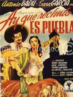 Ay Que Rechulo Es Puebla Vintage Mexican Cinema Poster