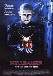 """Hellraiser - This movie was creepy and had some really scary parts. Wes Craven wrote this as a novella and then directed the first one. How can you not love Pinhead saying, """"We'll tear your soul apart."""""""