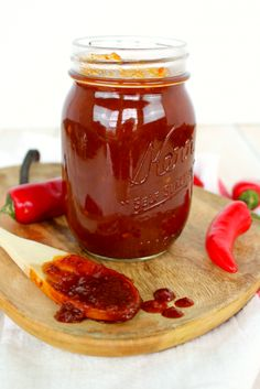 The perfect recipe for smokey, spicy & sweet barbeque sauce!  Fantastic for burgers, healthy chicken, pork chops and ribs, this simple BBQ sauce will be your new go-to dinner recipe for a grilling meal with the spicy chipotle flavor.