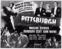 photo Marlene Dietrich Randolph Scott John Wayne add slick Pittsburgh 2539-01