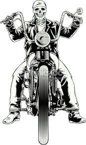 Vector illustration of a skeleton biker - vektor illus - Motorrad Harley Davidson Kunst, Harley Davidson Tattoos, Harley Davidson Wallpaper, Harley Davidson Chopper, Harley Davidson Sportster, Chopper Motorcycle, Motorcycle Art, Bike Art, Women Motorcycle