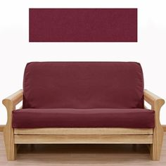 Solid Burgundy Futon Cover Is Crafted From Upholstery Grade Duck And Will Last The Test Of