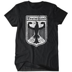 Deutschland Crest TShirt Sports World Soccer German Cup 2014 Eagle Tee Retro Tee Tee Shirts, Tees, Retro, World Cup, Sports, Mens Tops, Eagle, Soccer, Germany