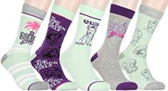 The Golden Girls Adult 5 Pair Casual Crew Socks Set Golden Girls Gifts, Crew Socks, Fashion Brands, Topshop, Pairs, Amazon, Casual, Stuff To Buy, Clothes