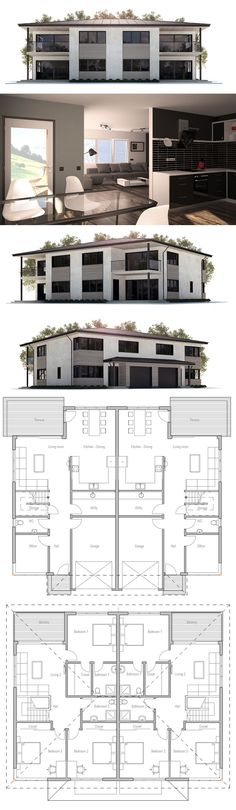 Duplex House Plan CH177D from ConceptHome.com