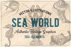 154 Vintage Sea Illustrations by Brigantine Designs on