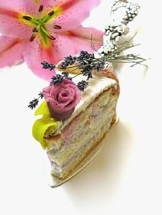 Lavender Mascarpone Cake. For Decor/staging/Organizing/Cuisine/MovingTips/SeasonalDecor visit Pinterest Boards/AbbottRealGroup.... or online AbbottRealGroup.com.