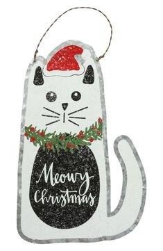 Primitives by Kathy 'Merry Christmas' Cat Wall Hanger Merry Christmas Cat, Cat Christmas Ornaments, Christmas Signs, Christmas Decorations, Christmas Stuff, Christmas Tree, Cat Lover Gifts, Cat Gifts, Cat Themed Gifts