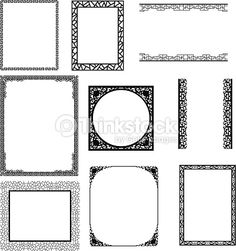 Clipart vectoriel : asian frame