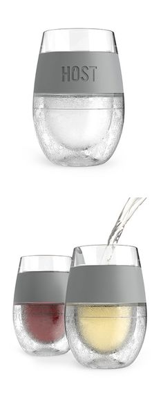 Instant chill wine glass - Pop it in the fridge to keep your drinks perfectly chilled for hours. BPA-Free.