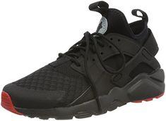 NIKE Air Huarache Run Ultra Mens Running Trainers 819685 Sneakers Shoes (UK 6 US 7 EU 40, Black Metallic Silver 012)