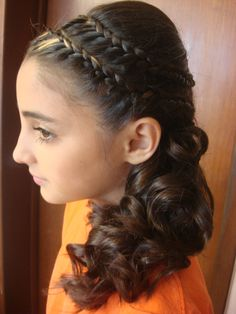 Peinados para ni as on pinterest hair kids kid hair and - Peinados con trenzas fiesta ...