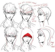 Step By Step Tutorial On How To Draw A Headband And A Hoodie Hood Only For A Male Anime Manga Character By Drawing Reference Drawing Tutorial Manga Drawing