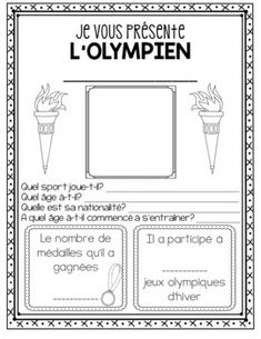 Teaching Tools, Teaching Resources, Olympic Crafts, Core French, French Classroom, French Resources, Vocabulary Cards, Winter Games, French Lessons