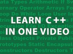 Get the Cheat Sheet Here : http://goo.gl/OpJ209 Best Book on C++ : http://goo.gl/GLLL0g How to Install C++ on Windows : https://youtu.be/SykxWpFwMGs?t=1m47s ...