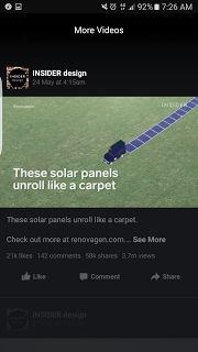 Solar Panels unroll like a carpet   Carpet Retail Solar-Panel