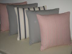 Cushions for a lovely holiday home in Clarke & Clarke fabrics