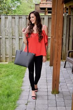 Red & Black Combo + On Mondays We Link-Up - Trendy & Tidy
