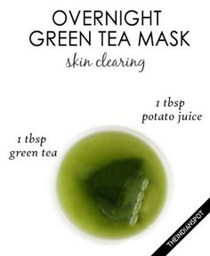 Overnight green tea mask - skin clearing mask
