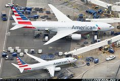 Boeing 737 and 777 aircraft picture