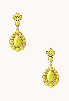 Iconic Faux Stone Teardrop Earrings   FOREVER21 - 1000091817