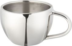 Stainless-Steel Espresso Cup. These are the best cups I have ever found. Wonderful to serve guests with.