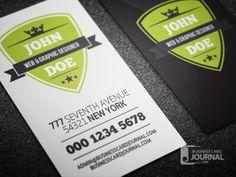 Download » http://businesscardjournal.com/modern-retro-vertical-business-card-template/  Modern Retro Vertical Business Card Template