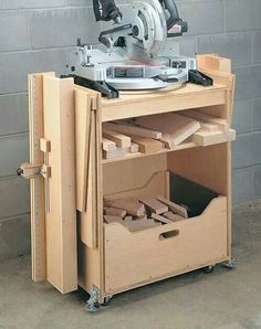 Compound Miter Saw Cabinet 2