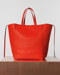 love the splash of color in this celine bi-cabas bag from their ...