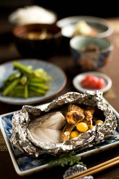 Steamed Cod with Japanese Matsutake Mushrooms