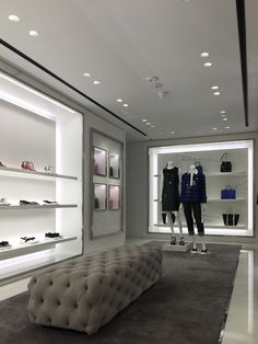 Lucent Lighting Michael Kors : Lucent Lighting Boutique Interior, Clothing Store Interior, Clothing Store Design, Showroom Interior Design, Boutique Decor, Modern Interior Design, Shoe Store Design, Retail Store Design, Modern Villa Design