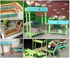 Fancy  ways to repurpose old drawers into whimsical planters for your garden
