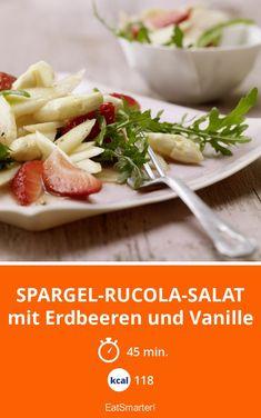 Spargel-Rucola-Salat - mit Erdbeeren und Vanille - smarter - Kalorien: 118 Kcal - Zeit: 45 Min. | eatsmarter.de