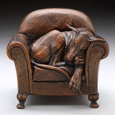 Louise Peterson - Great Danes - Fitting In, bronze edition