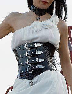 720 patent leather waist clincher with kickass belt straps. This is my  IDEAL leather waist cincher 81c39b435