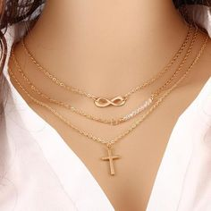 Cheap jewelry charm, Buy Quality jewelry draw directly from China jewelry trend Suppliers: Infinity Cross Necklacecs - Silver  Gold Cross Infinity Lariat Necklaces- Faith Forever women fashion Y necklace , boho