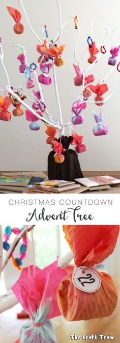 DIY Advent Tree from