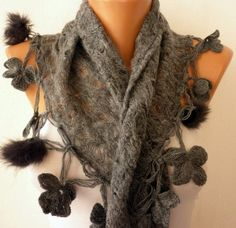 This woman's etsy has AMAZING SCARVES. It was so hard to pin just one....And the sites name is Fatwoman :D