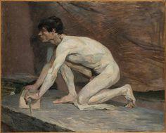 Henri de Toulouse-Lautrec, The Marble Polisher, 1882