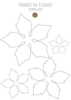 Poinsettia flower template III copy Last year I created some paper poinsettias for my Christmas presents. I loved so much the result that I decided to work on it again for this Christmas, and I made two different kinds of poinsettias… Poinsettia Flower, Christmas Flowers, Christmas Paper, Christmas Decorations, Christmas Projects, Christmas Templates, Paper Decorations, Giant Paper Flowers, Felt Flowers