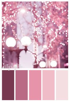 City Lights Color Scheme Pink Palettes Schemes