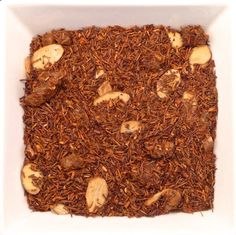 Red Amaretto Red rooibos leaf, papaya, almond pieces, natural flavour. Natural Flavors, Drinking Tea, Almond, Red, Fall, Winter, Autumn, Winter Time, Almond Joy