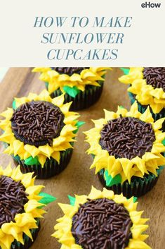 For a treat that's pure happiness, try these cupcakes decorated like sunflowers. They may look all fancy-schmancy, but they're actually easy enough to make, even for a beginner!