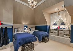 Kids rooms with twin beds